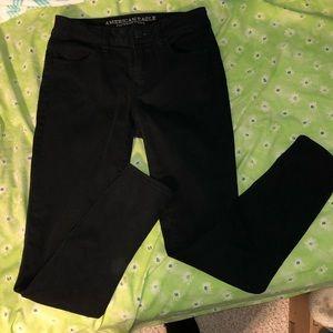 Black Low Rise Jeans